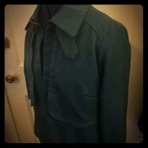 JustFab teal trench blazer sz L